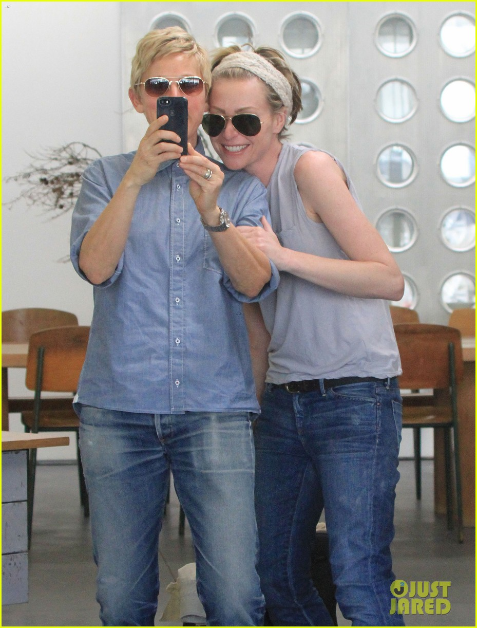 ellen degeneres portia de rossi were the cutest couple on valentines day 043054319
