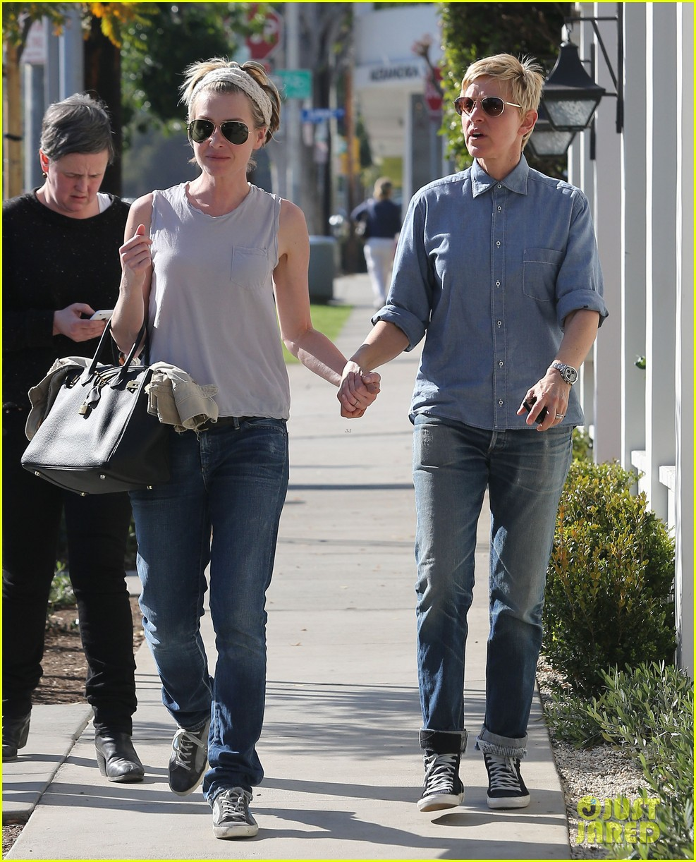 ellen degeneres portia de rossi were the cutest couple on valentines day 06