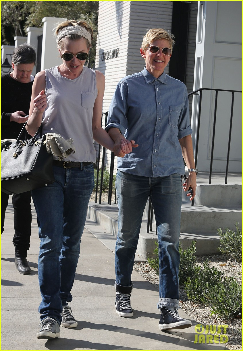 ellen degeneres portia de rossi were the cutest couple on valentines day 09