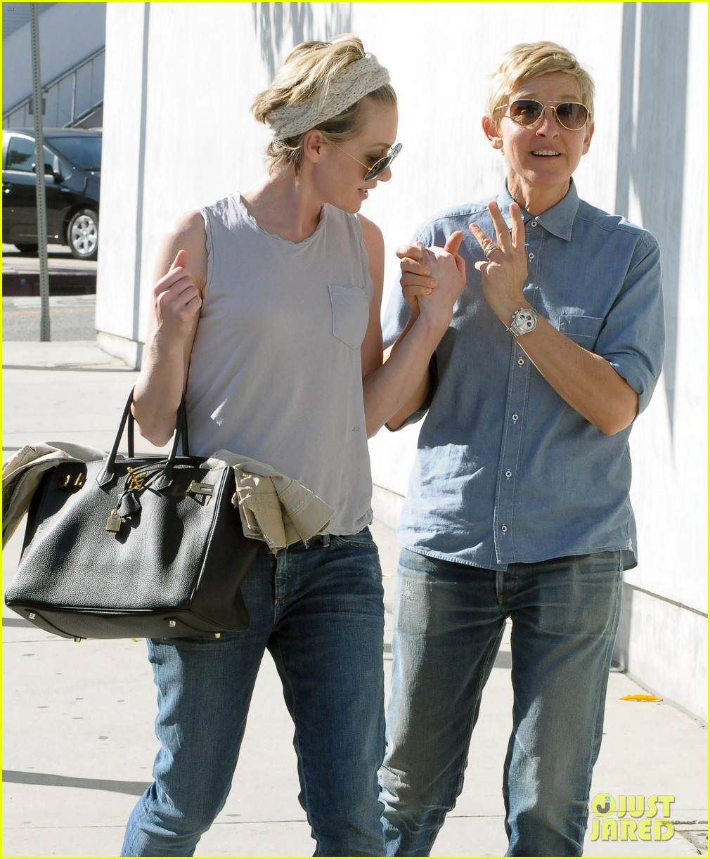 ellen degeneres portia de rossi were the cutest couple on valentines day 133054328