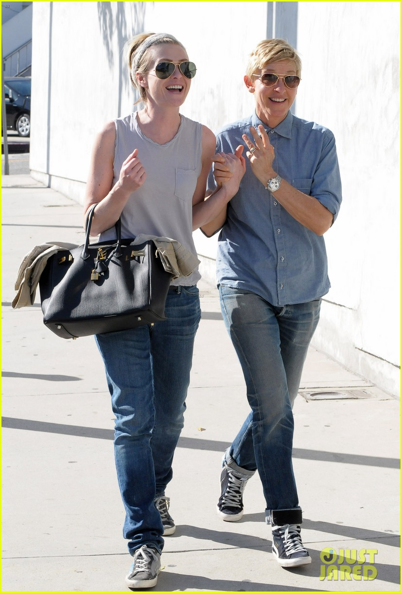 ellen degeneres portia de rossi were the cutest couple on valentines day 143054329