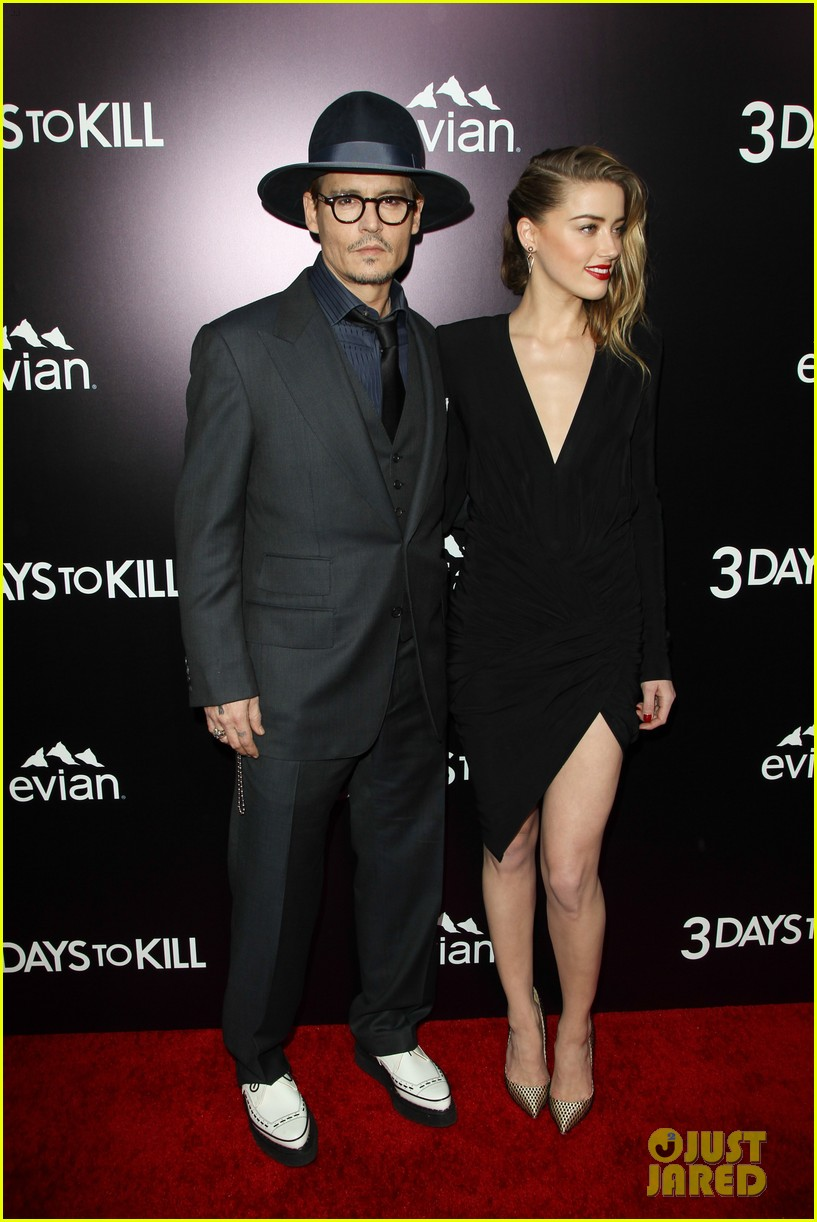 johnny depp supports amber heard at 3 days to kill premiere 013052492