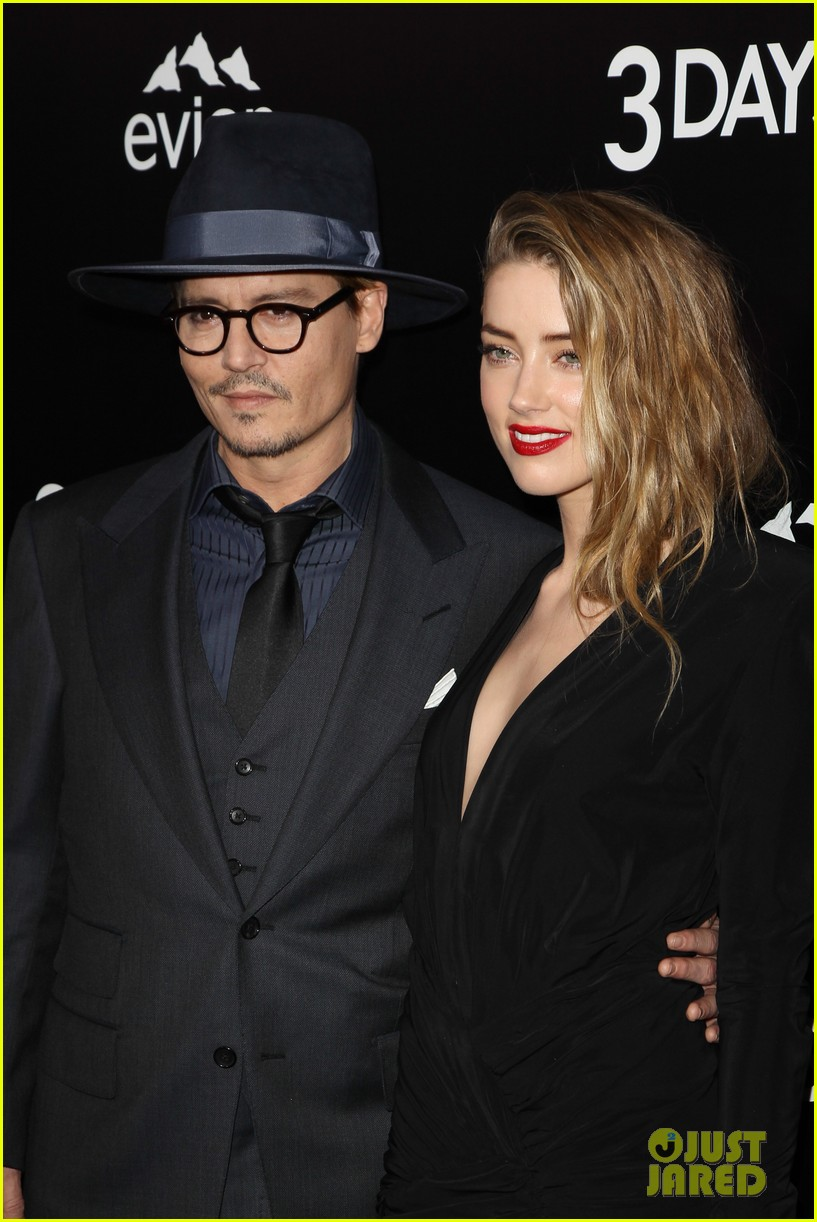 johnny depp supports amber heard at 3 days to kill premiere 043052495