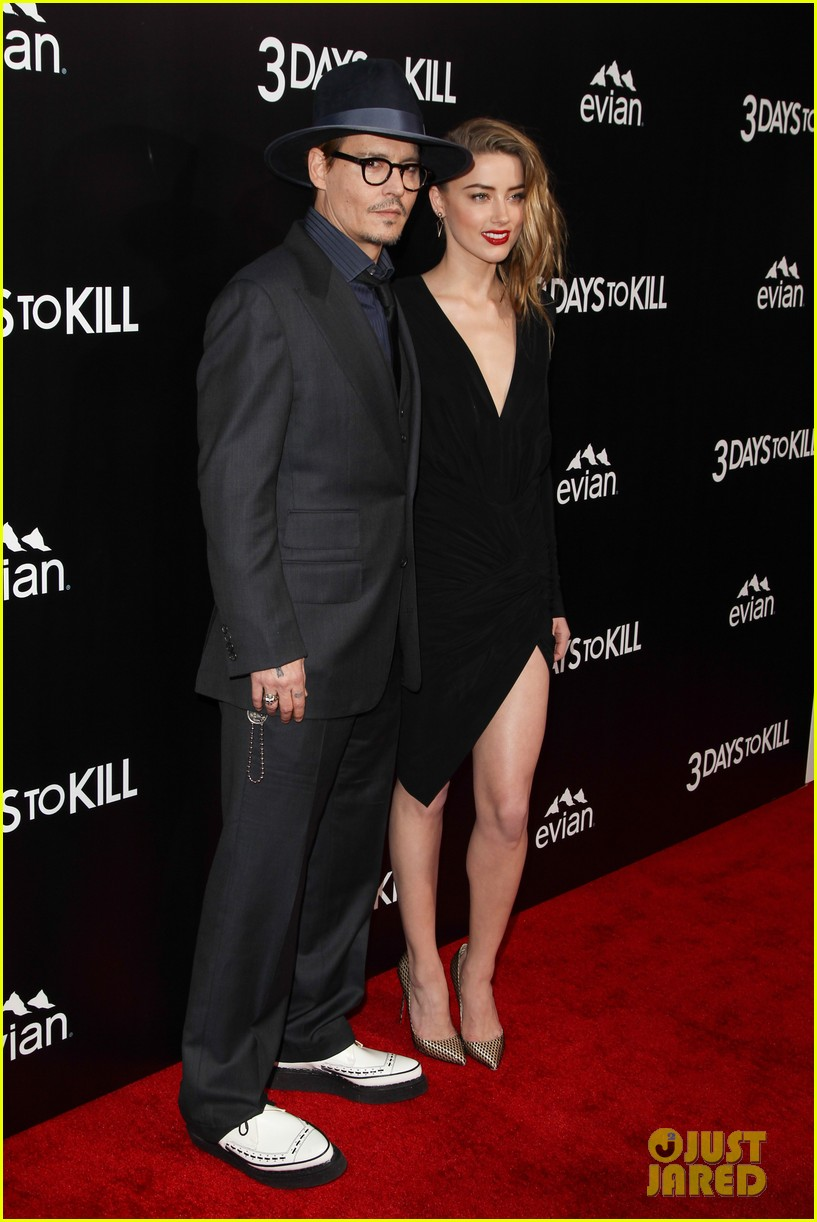 johnny depp supports amber heard at 3 days to kill premiere 073052498