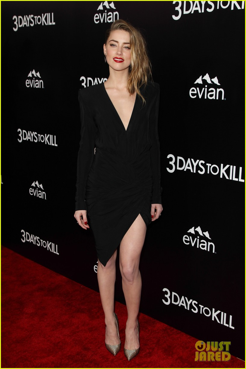johnny depp supports amber heard at 3 days to kill premiere 163052507