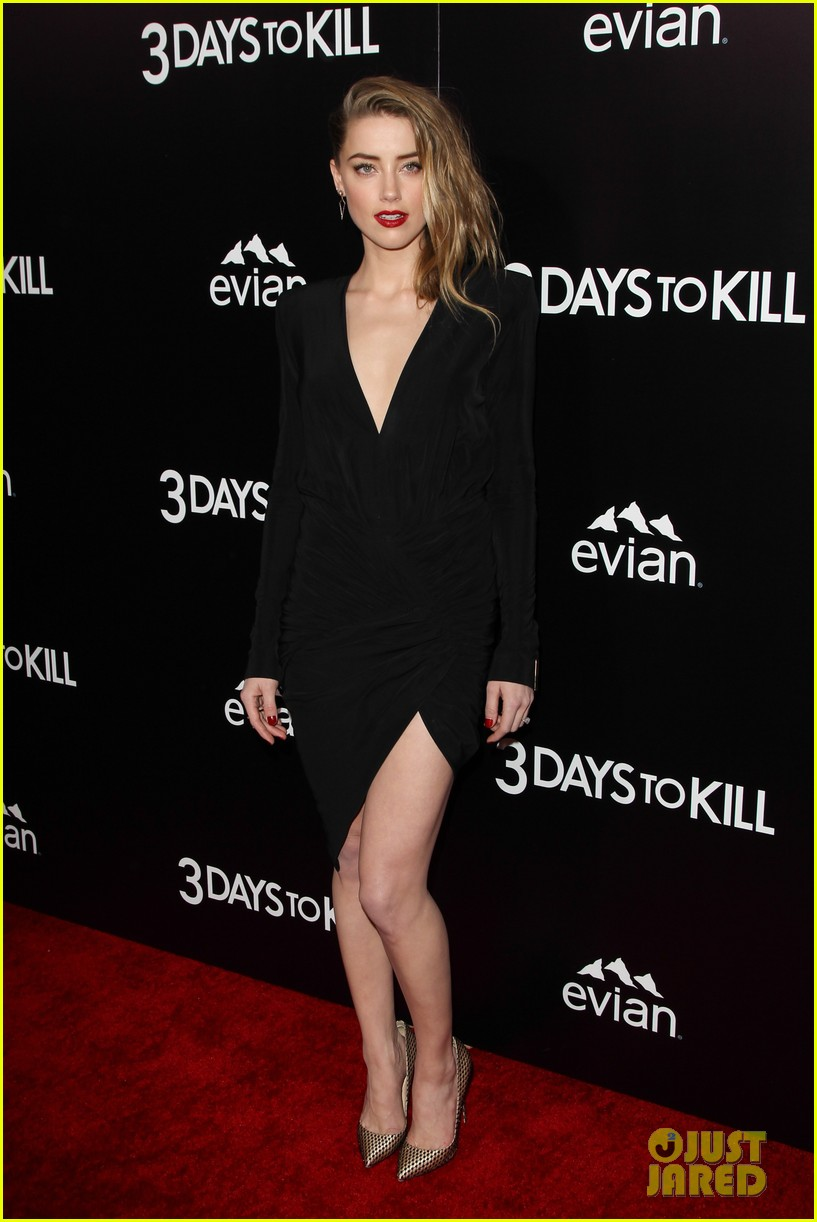 johnny depp supports amber heard at 3 days to kill premiere 183052509