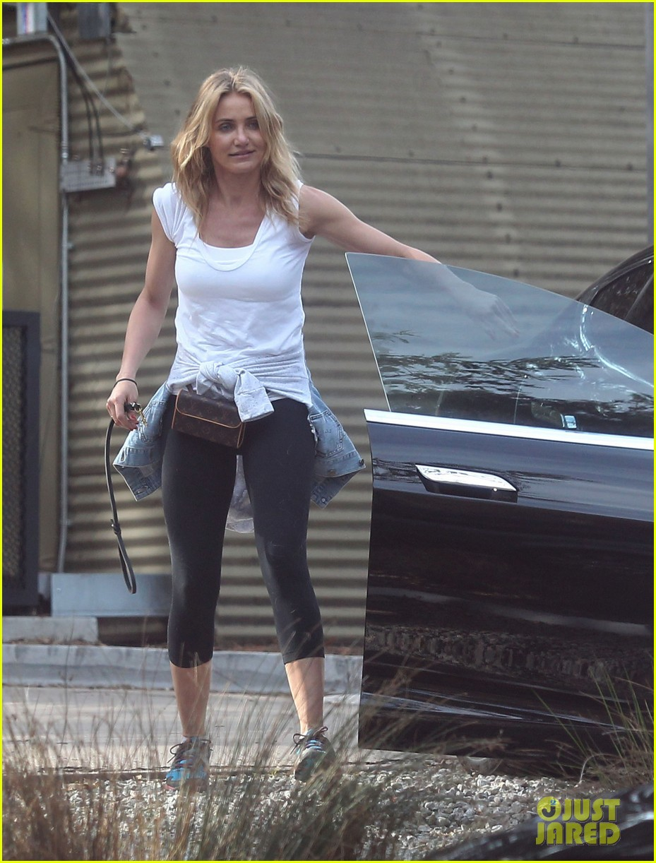 cameron diaz nicole richie walk their dogs together 023059690