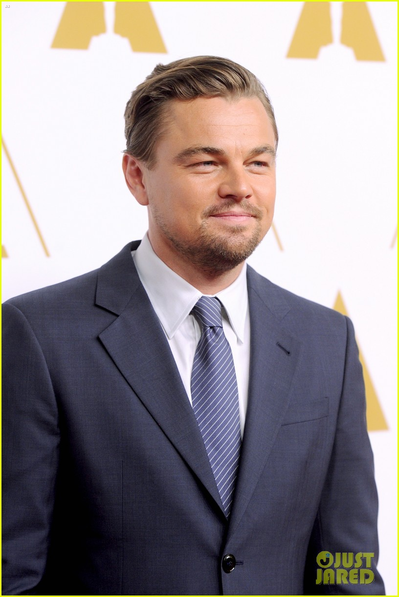 leonardo dicaprio jonah hill bring wall street to oscars nominees luncheon 2014 08