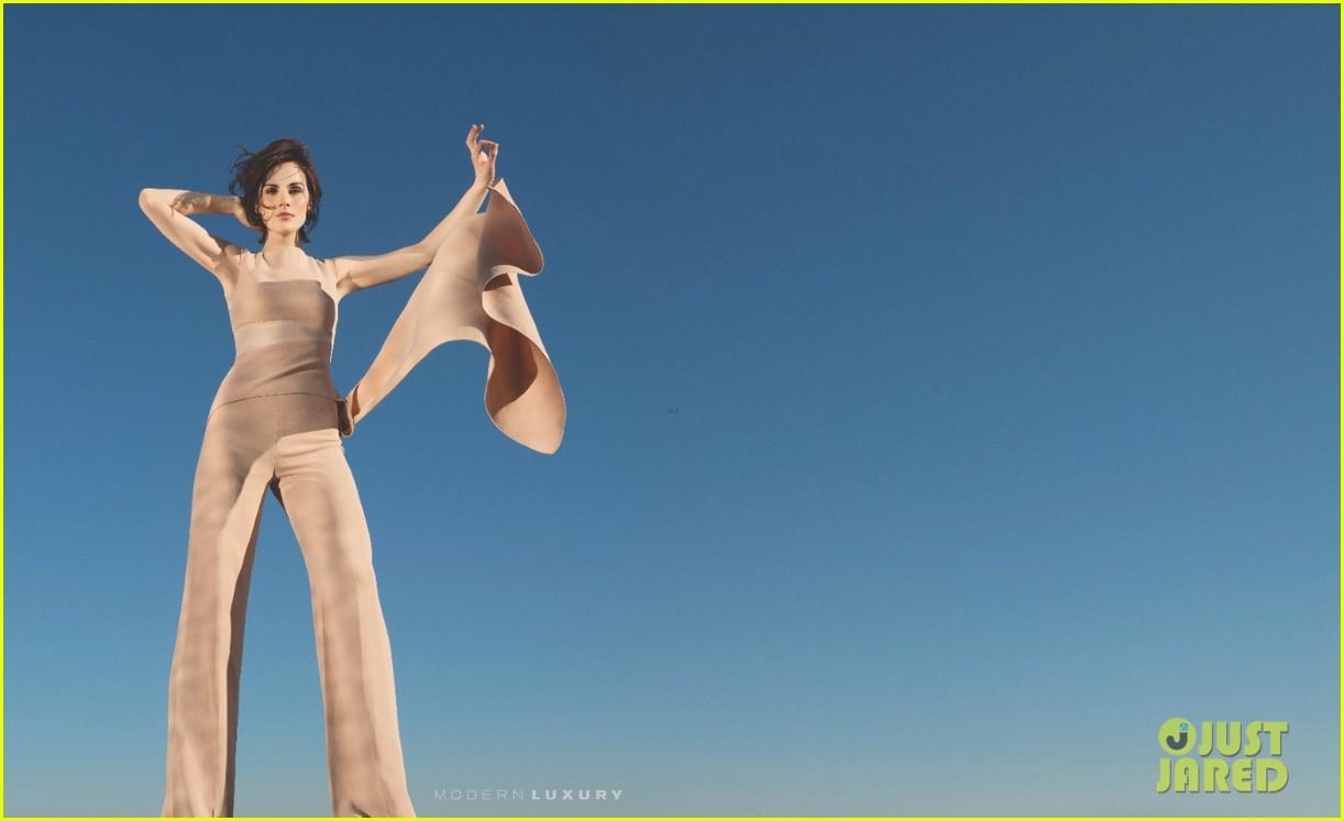 michelle dockery wears sexy white dress for manhattan magazine 043062445