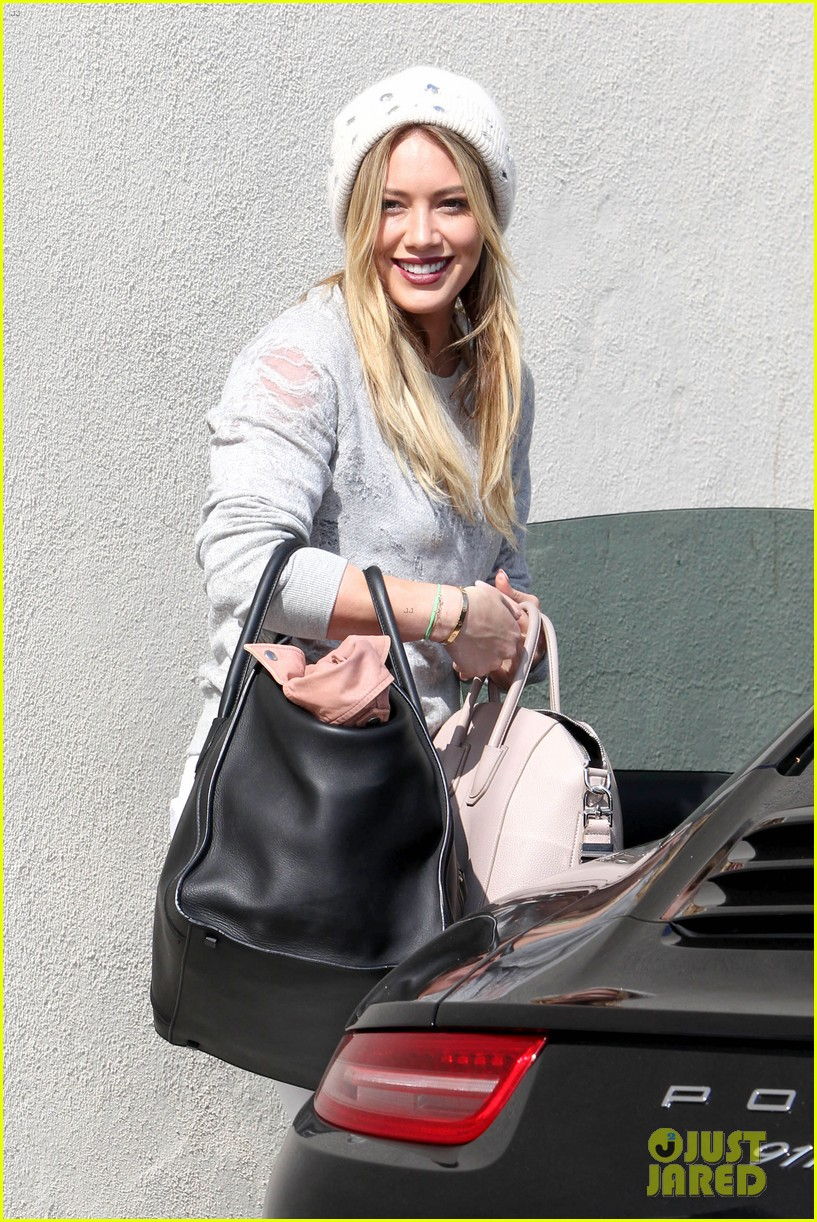 hilary duff beverly hills shopper with son luca 143057891
