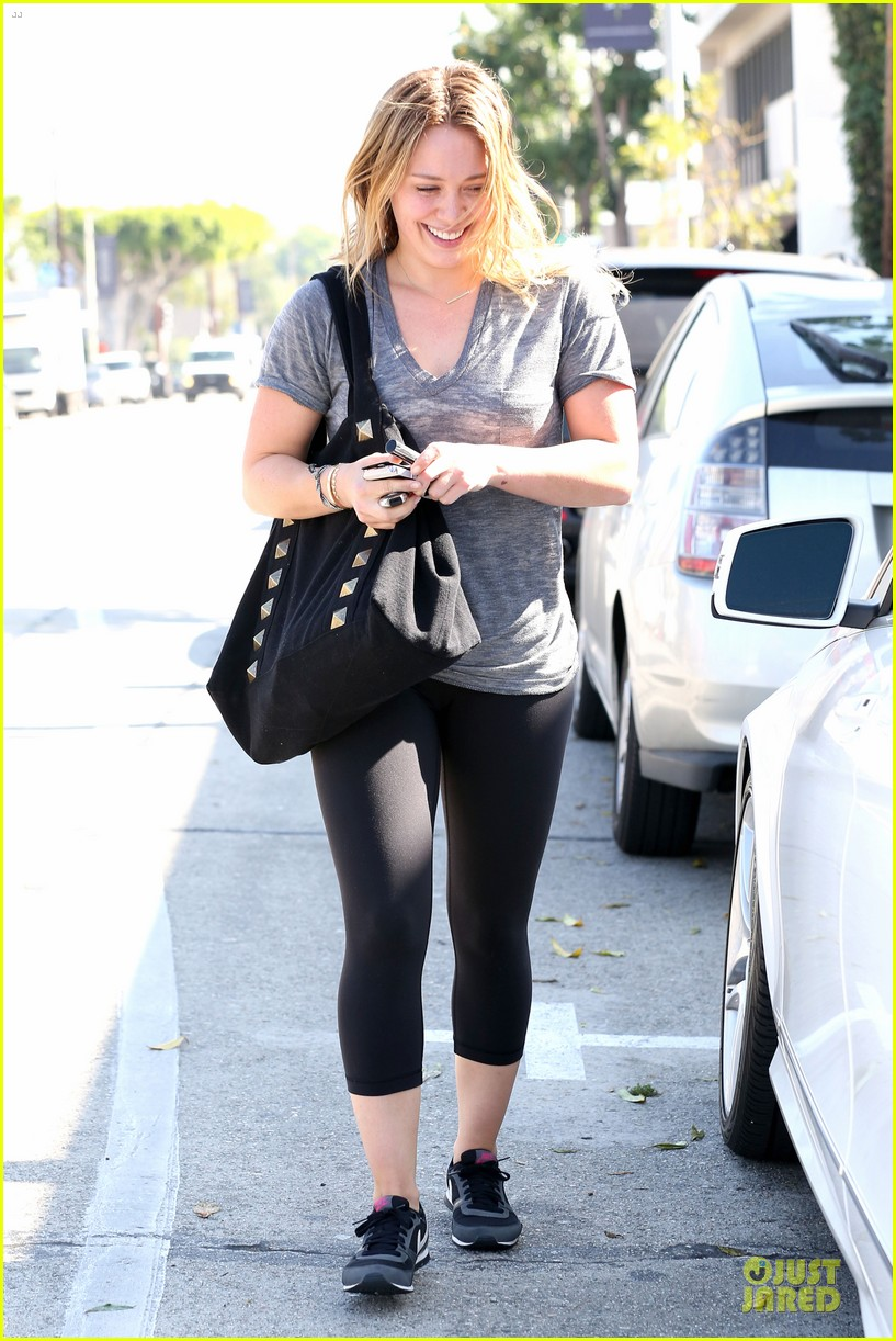 hilary duff fitness first following nyc trip 09