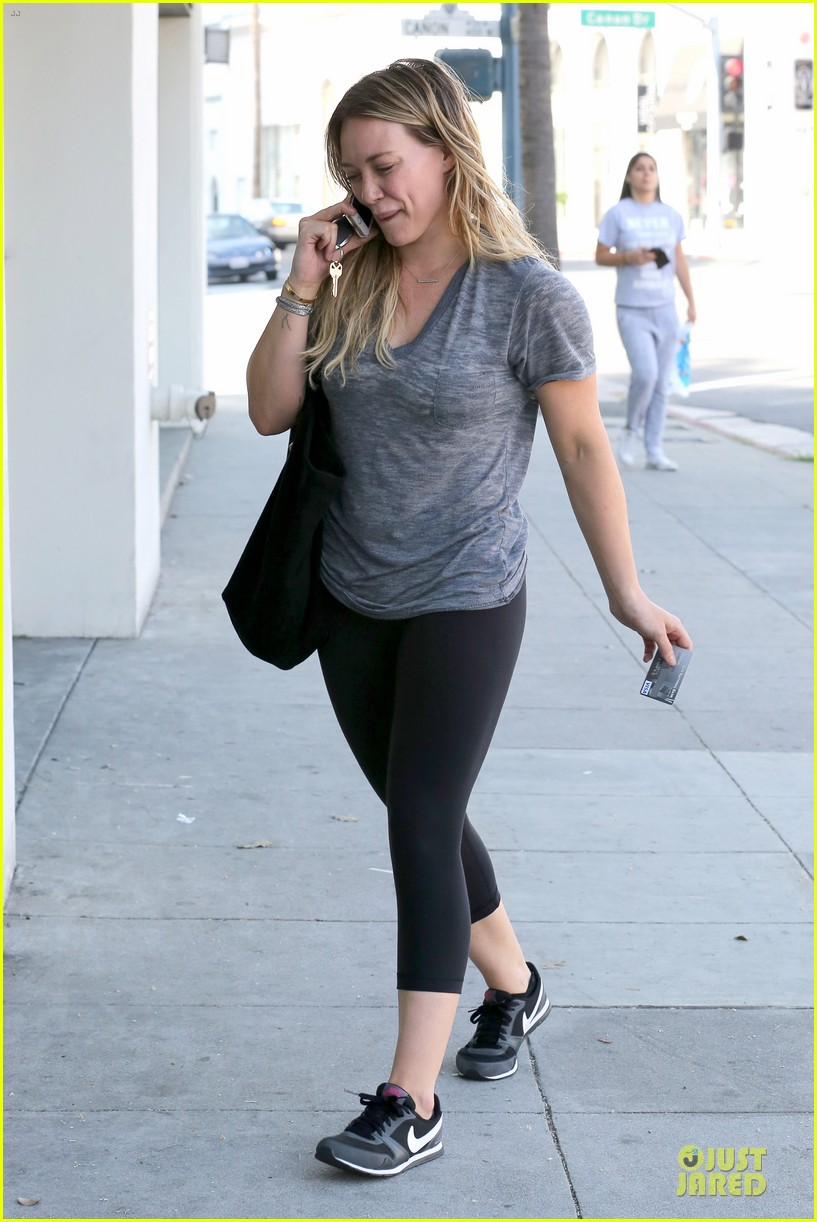 hilary duff fitness first following nyc trip 163055955