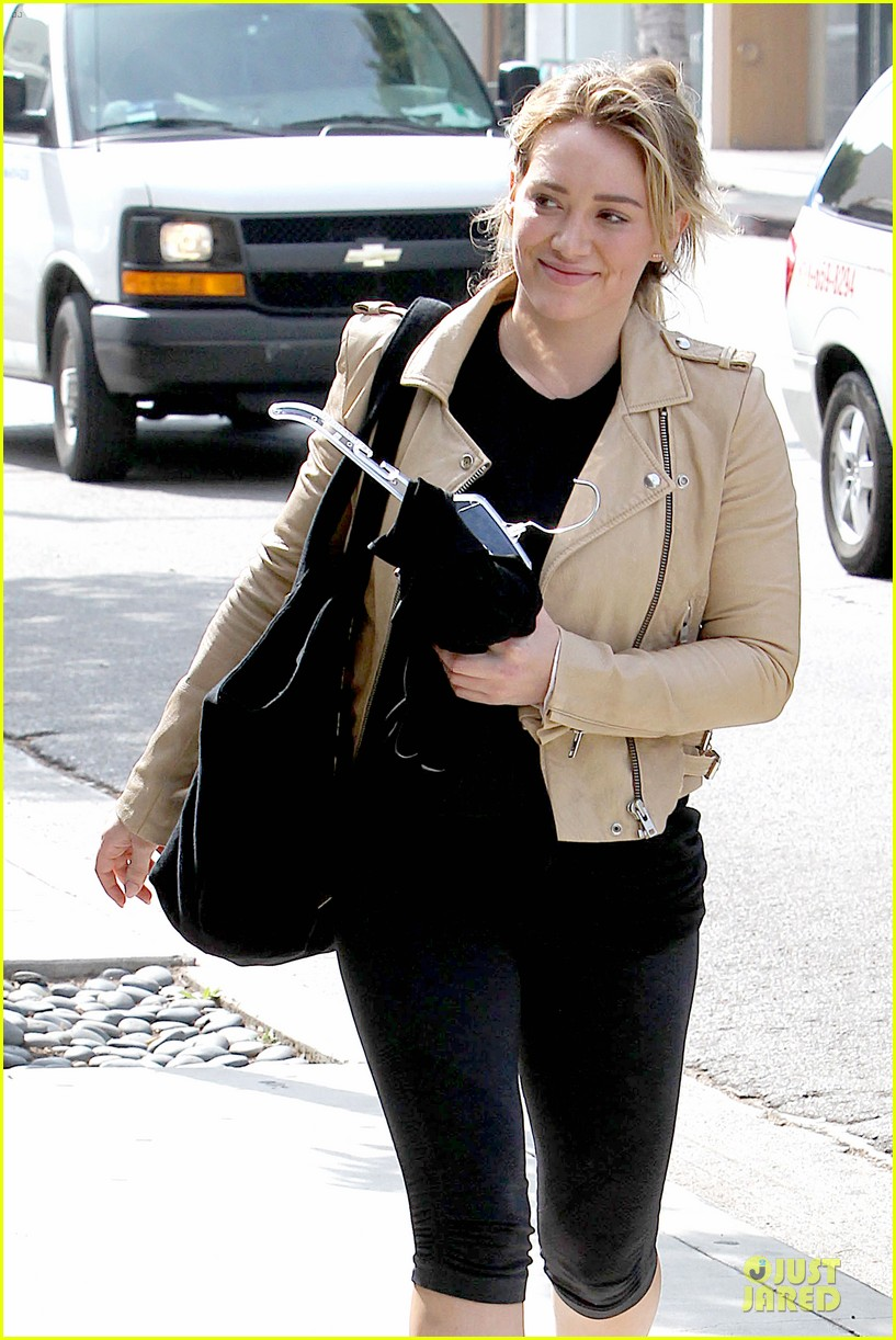 hilary duff fitness first following nyc trip 243055963