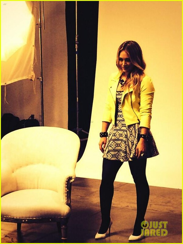 hilary duff rocks yellow for younger promo shoot 053060539