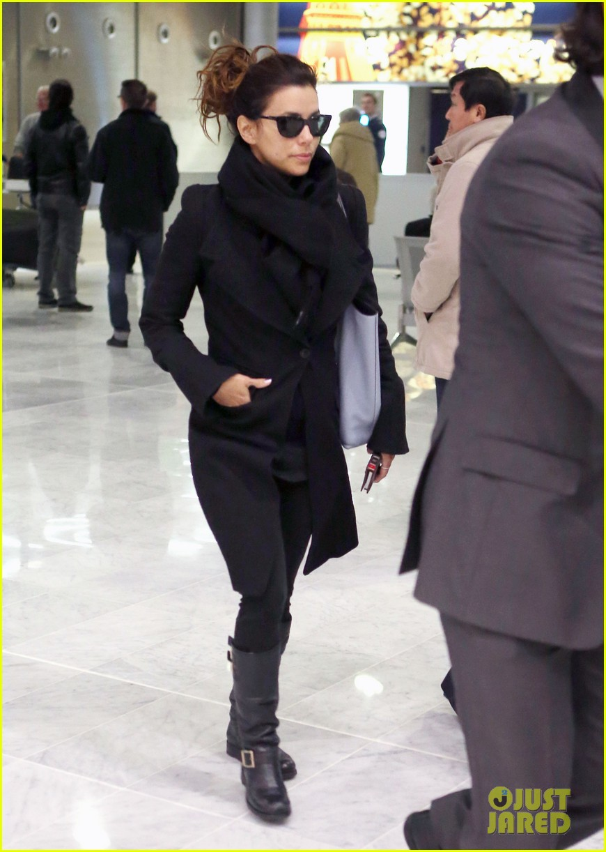eva longoria arrives in france for loreal paris shoot 01