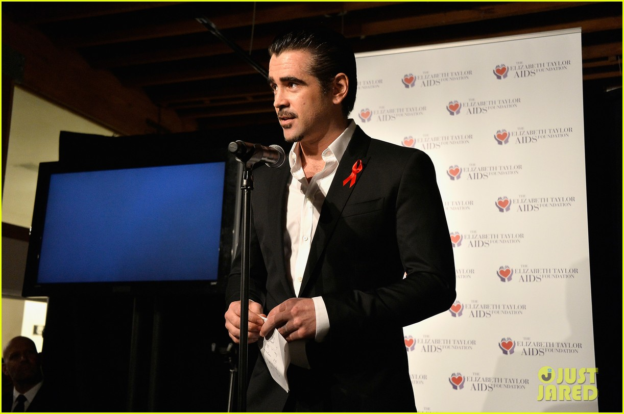 katharine mcphee colin farrell elizabeth taylor aids foundation art auction 083062299