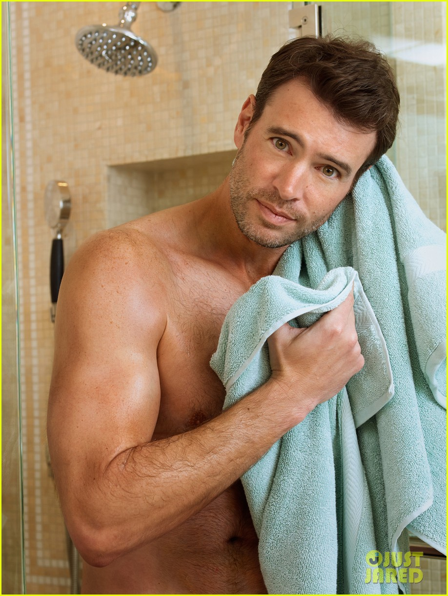 scott foley is super hunky goes shirtless in a towel for charisma 043060327