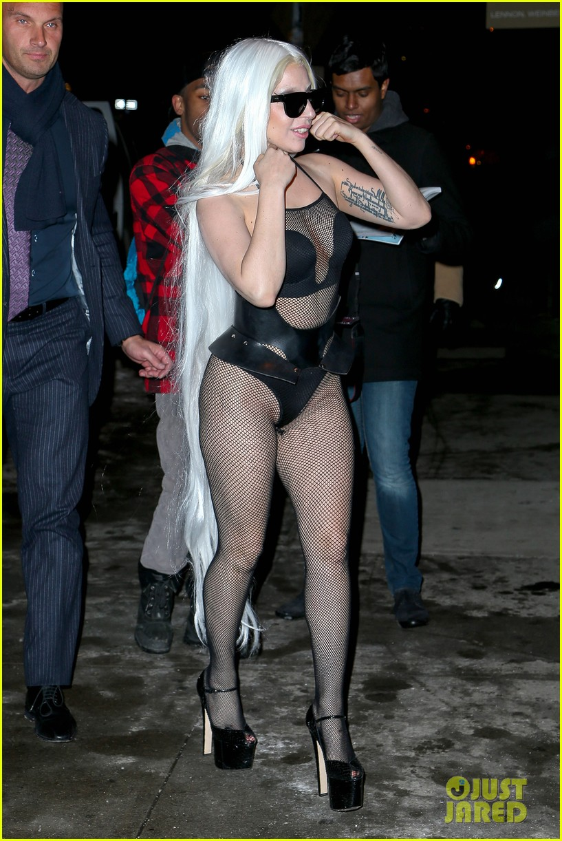 lady gaga wears almost nothing in freezing new york weather 053055336