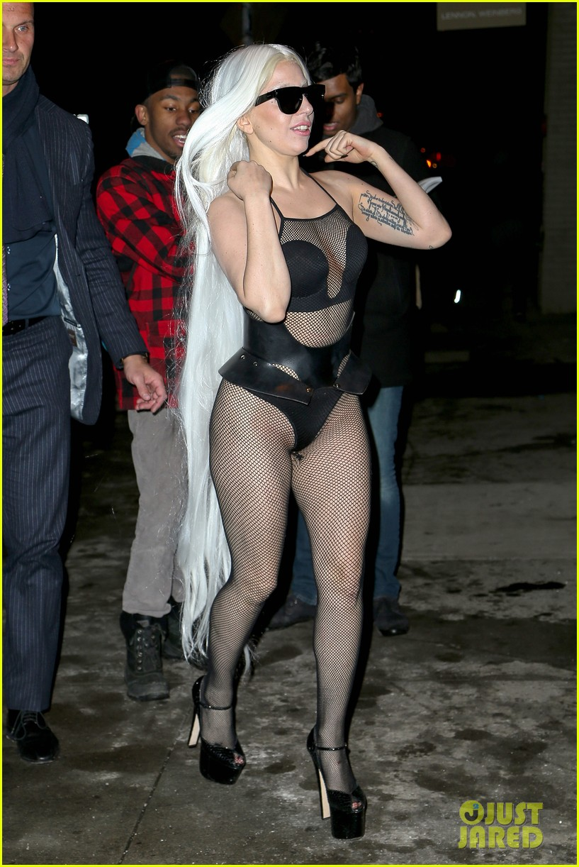 lady gaga wears almost nothing in freezing new york weather 133055344