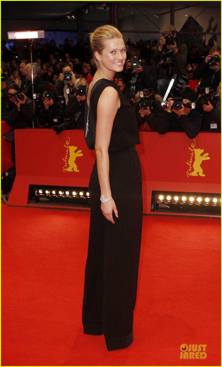 toni garrn bares back at monuments men berlinale premiere 083049790