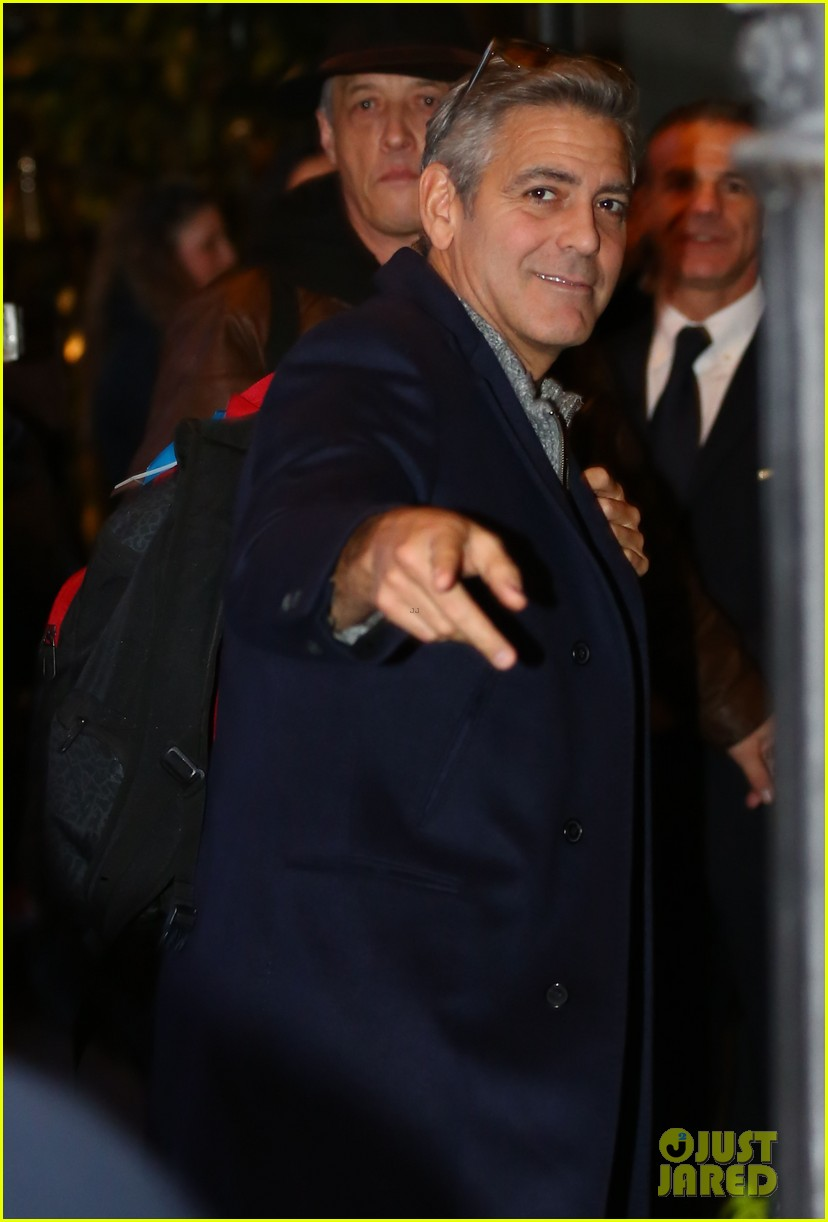 george clooney matt damon arrive in milan ahead of monuments men premiere 04