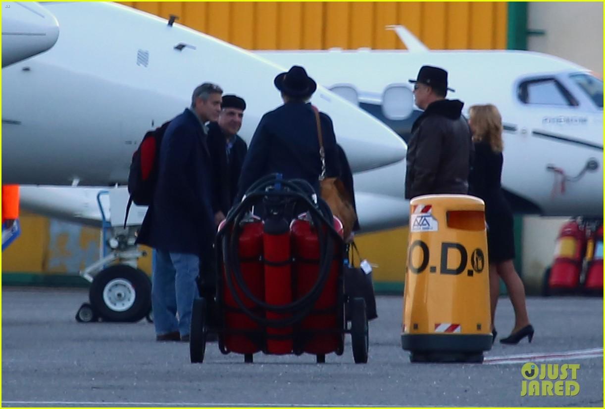 george clooney matt damon arrive in milan ahead of monuments men premiere 053050223