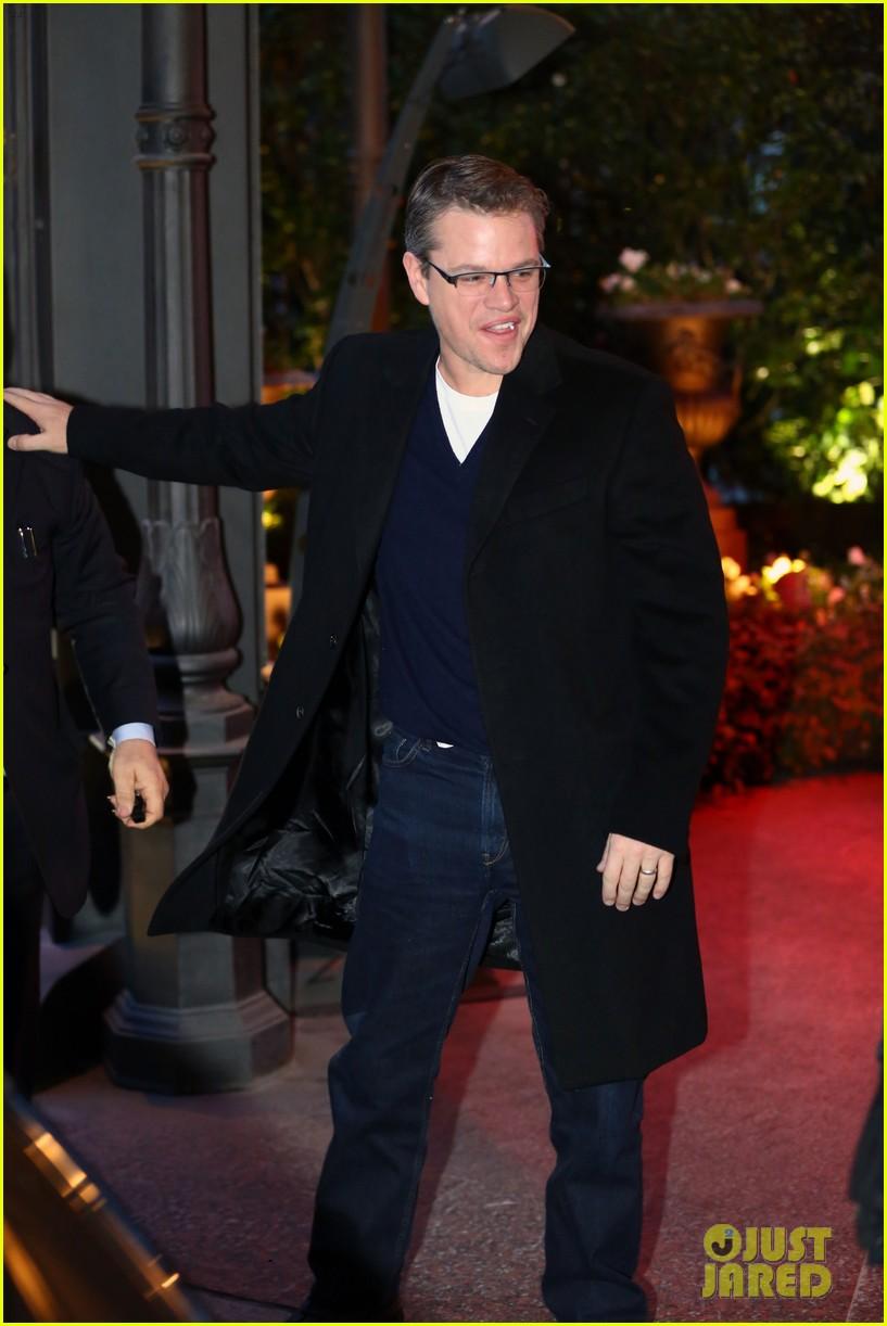 george clooney matt damon arrive in milan ahead of monuments men premiere 073050225