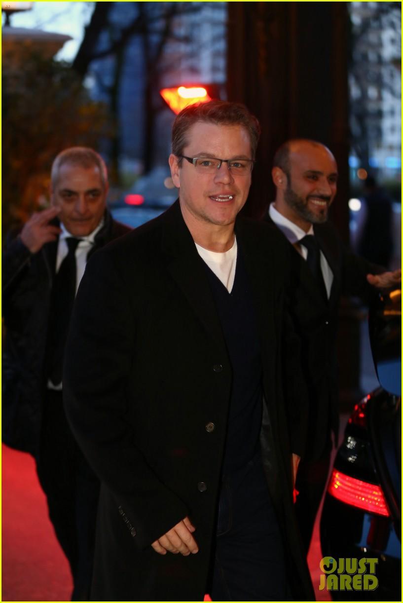 george clooney matt damon arrive in milan ahead of monuments men premiere 09