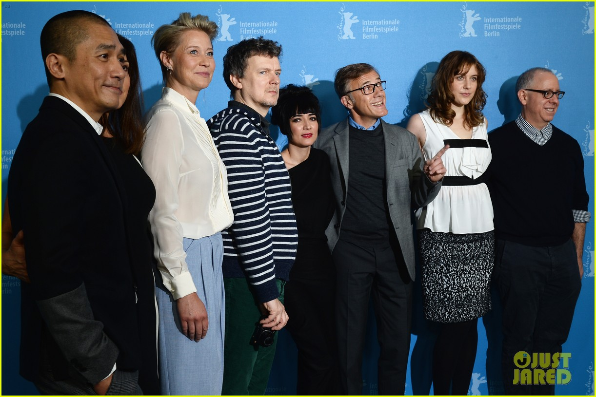 greta gerwig christoph waltz berlinale festival 2014 jury photo call 063048504
