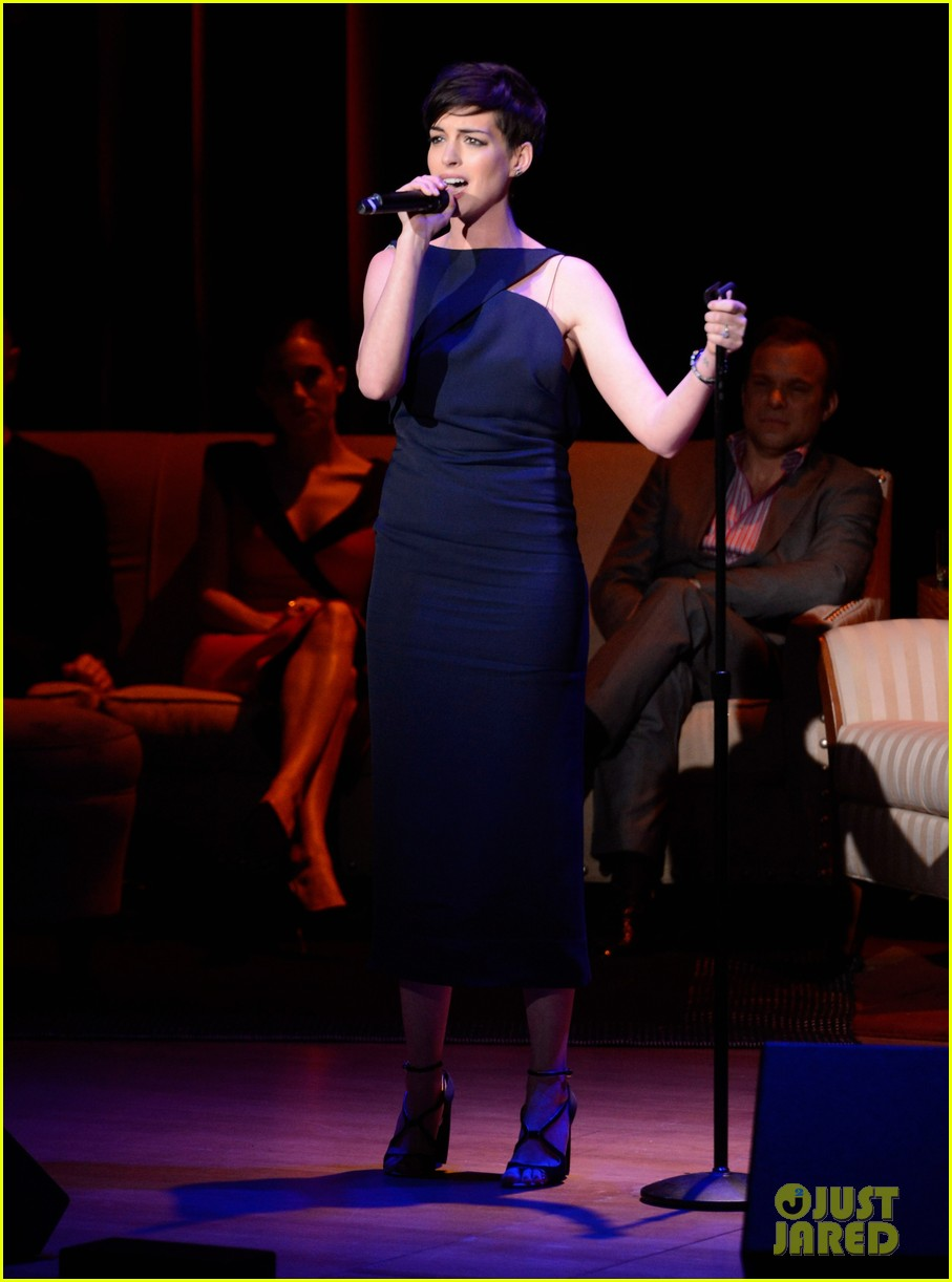 anne hathaway madonna pose together at great american songbook event 053051324