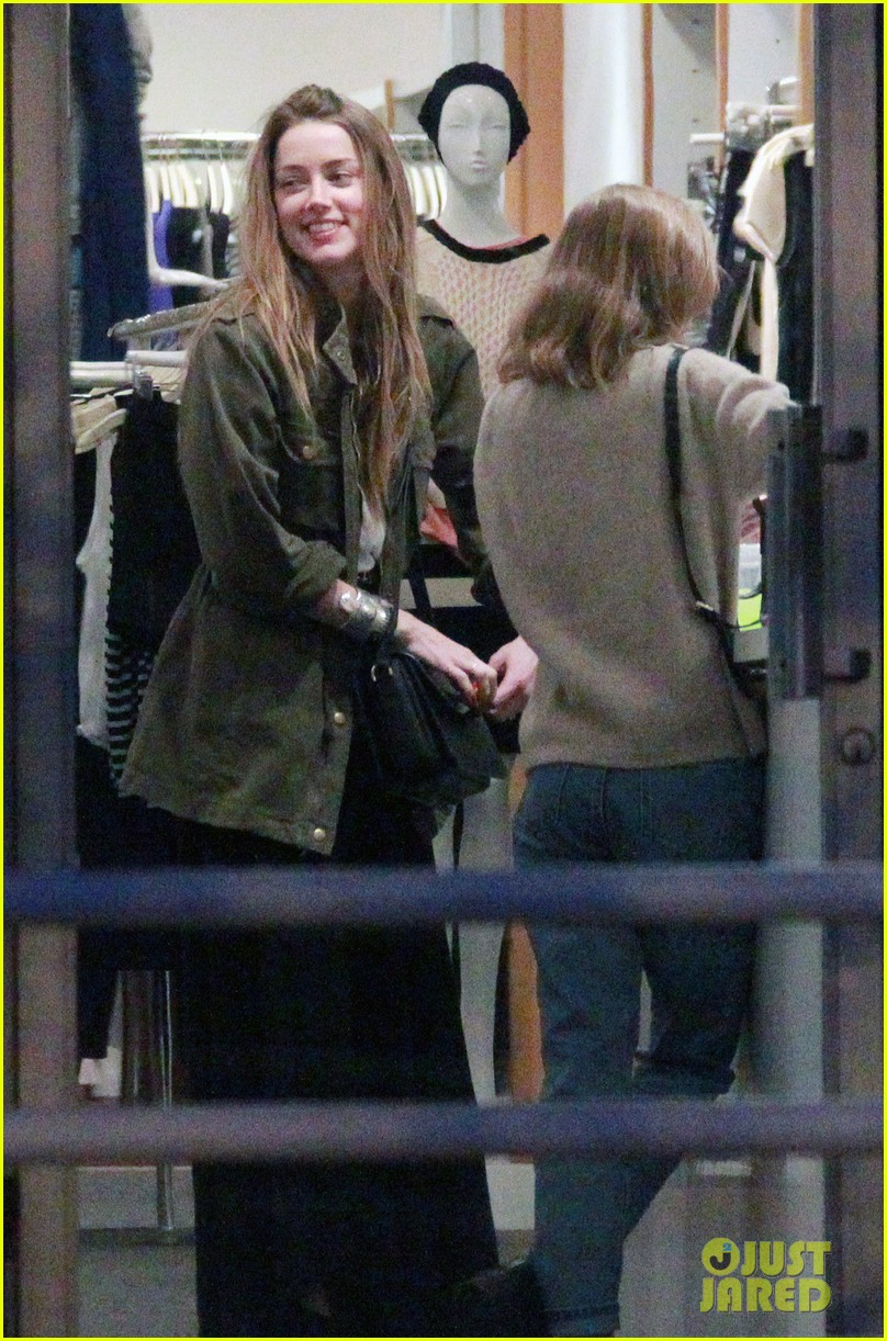 amber heard future step daughter lily rose depp laugh bond while shopping 053046618