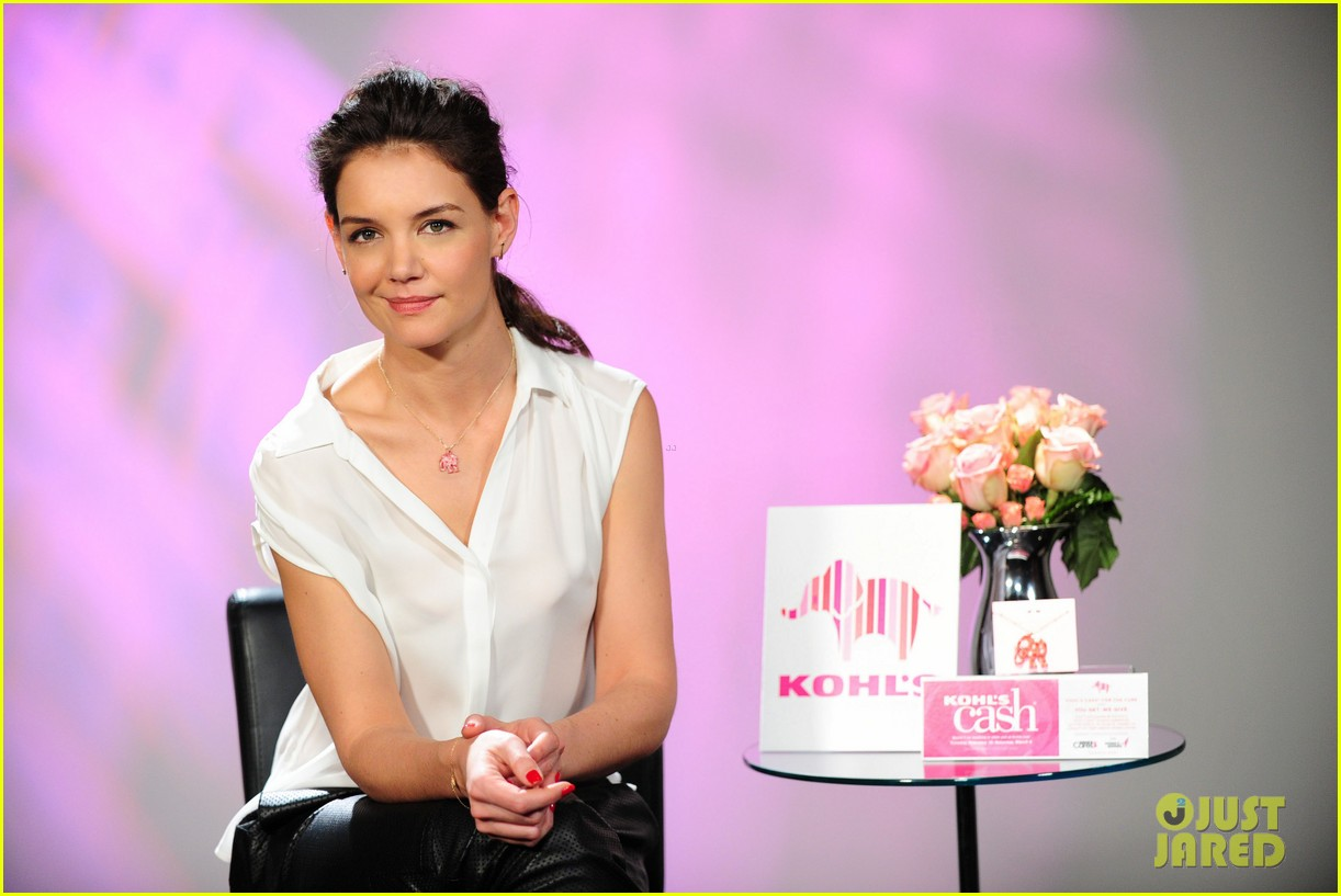 katie holmes teams up with kohl for breast cancer awareness 023053383