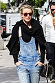 julianne hough sports denim overalls for newsroom brunch 02