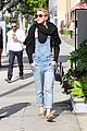 julianne hough sports denim overalls for newsroom brunch 06