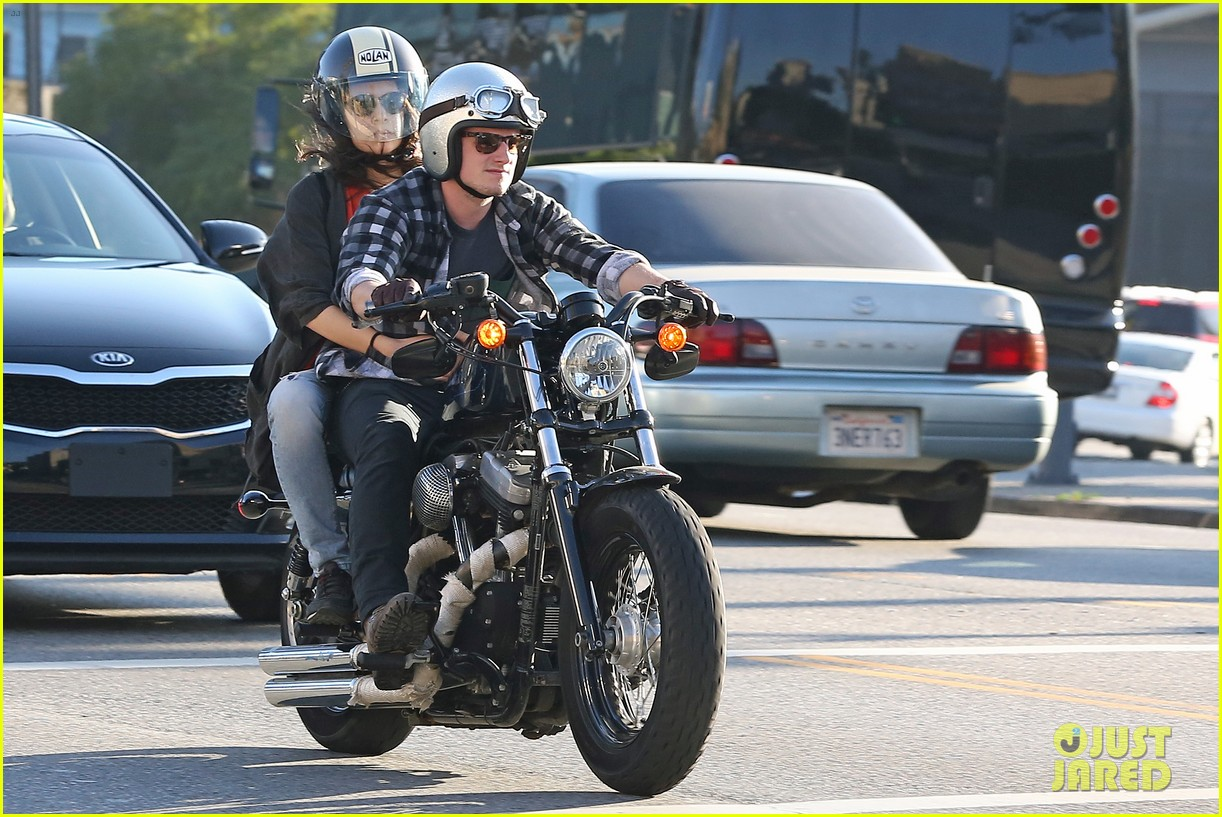 josh hutcherson goes for a motorcycle ride with a gal pal 01