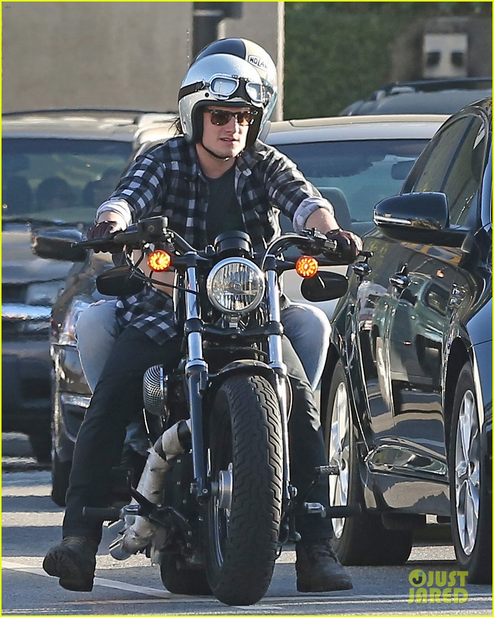 josh hutcherson goes for a motorcycle ride with a gal pal 043059655