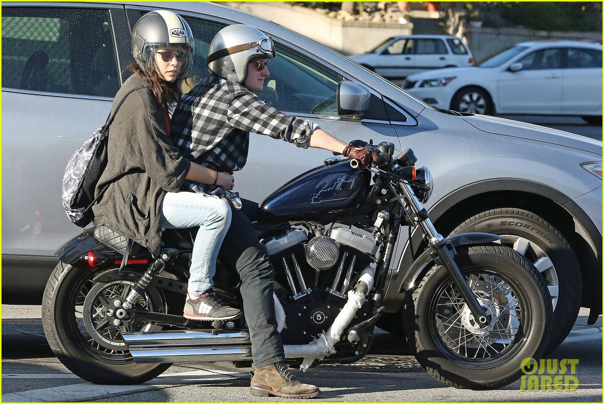 josh hutcherson goes for a motorcycle ride with a gal pal 073059658