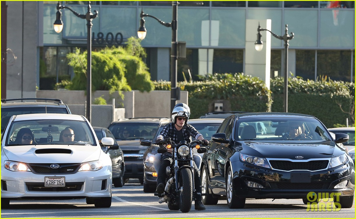 josh hutcherson goes for a motorcycle ride with a gal pal 113059662