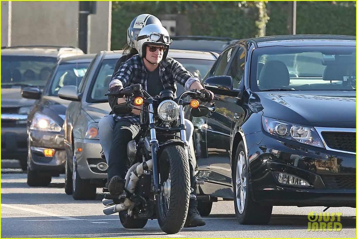 josh hutcherson goes for a motorcycle ride with a gal pal 123059663