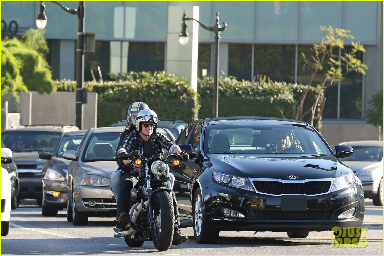 josh hutcherson goes for a motorcycle ride with a gal pal 133059664
