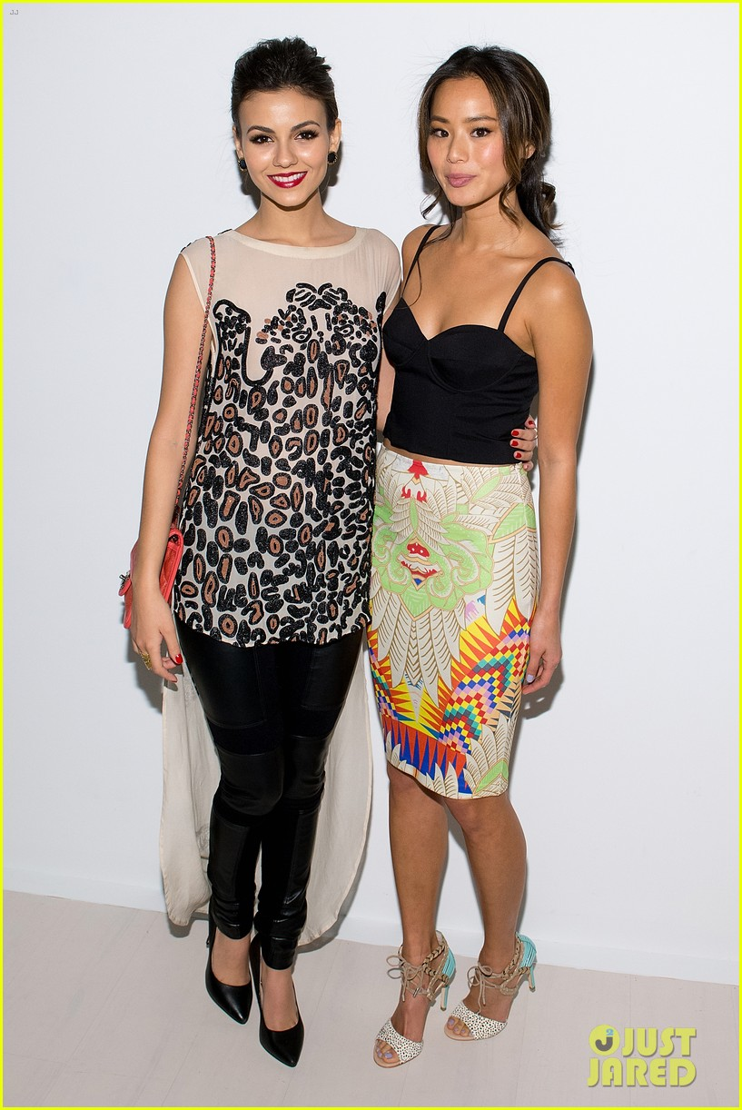 jamie chung victoria justice front row at mara hoffman show 053050132