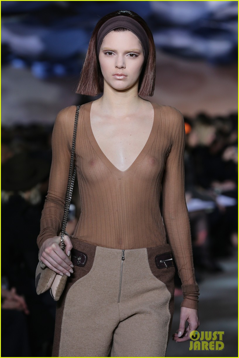 kendall jenner bares breasts in sheer top at marc jacobs fashion show 023053127