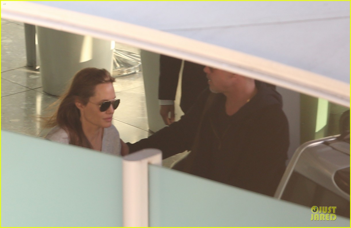angelina jolie brad pitt post valentines day reunion in london 17