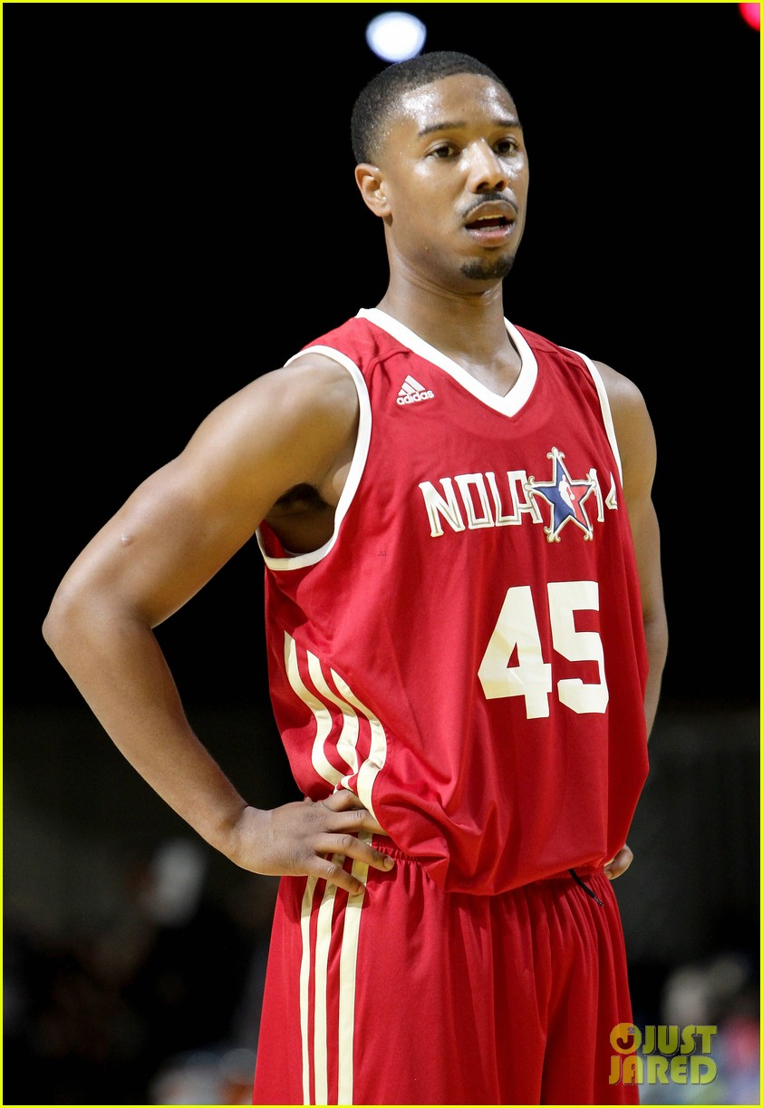 michael b jordan more play in nba all star celebrity game 14