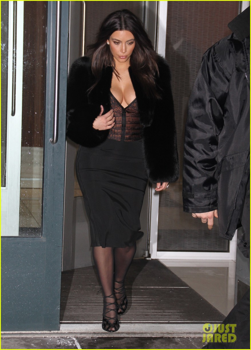 kim kardashian wears low cut top after proposal airs on tv 01