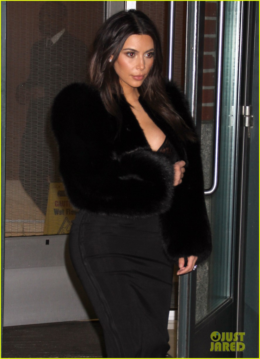 kim kardashian wears low cut top after proposal airs on tv 323054857