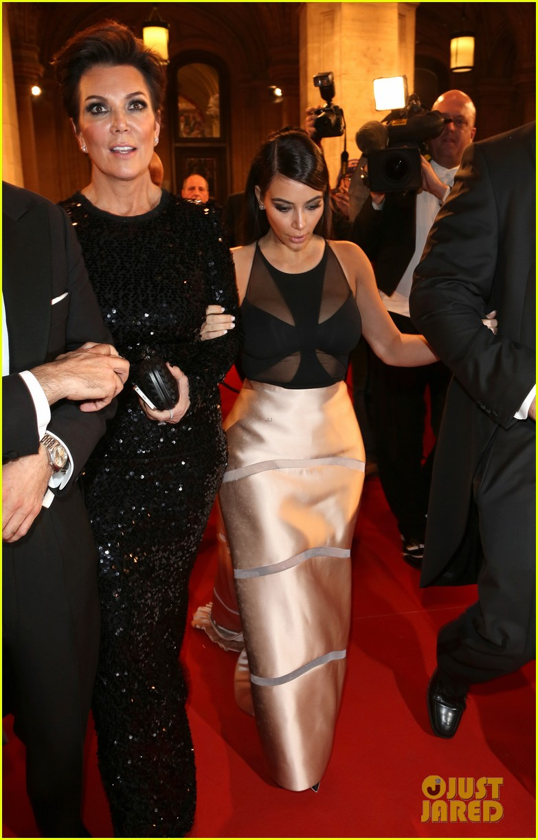 kim kardashian stuns in dress with sheer top at vienna ball 063061896