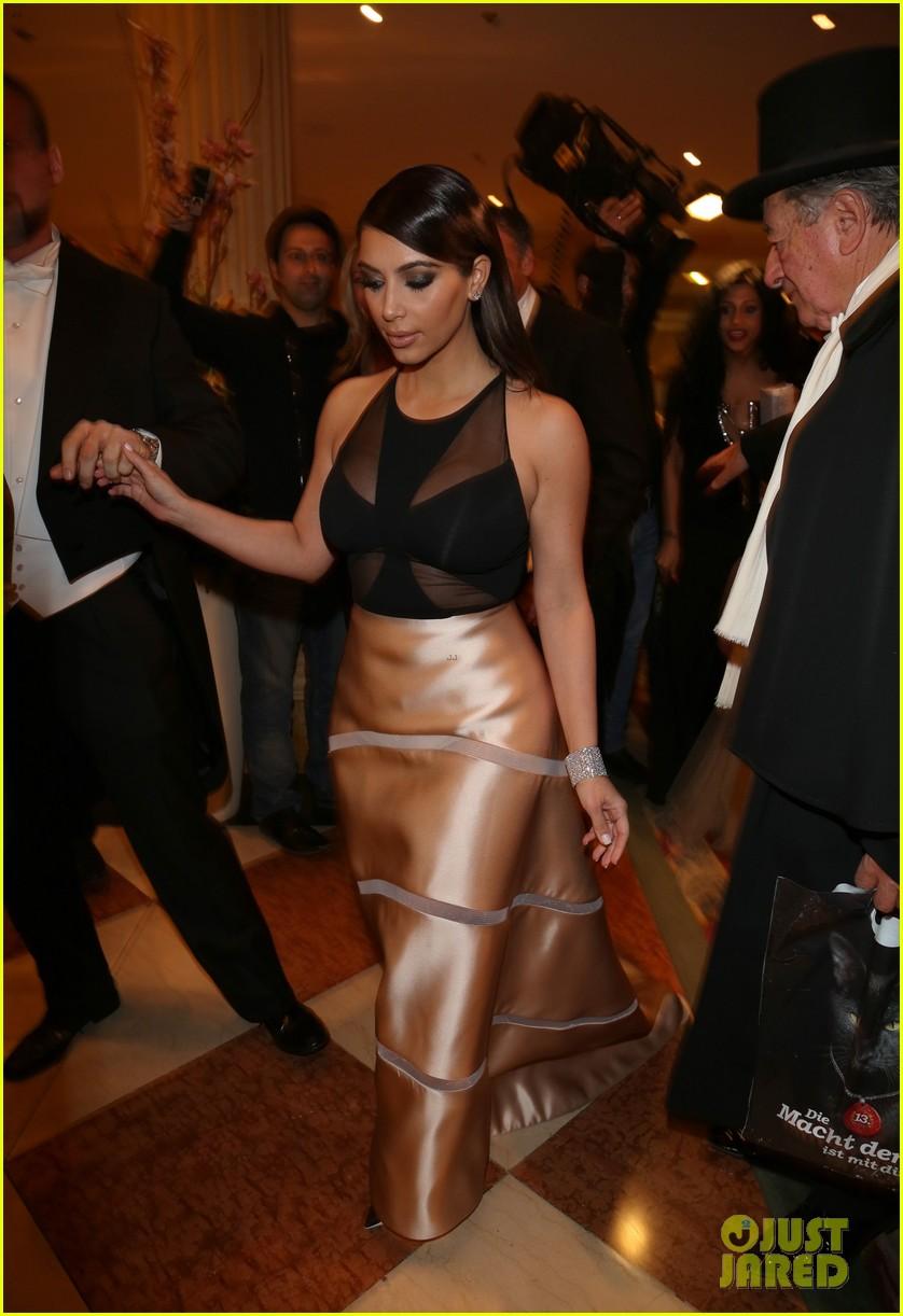 kim kardashian stuns in dress with sheer top at vienna ball 163061906