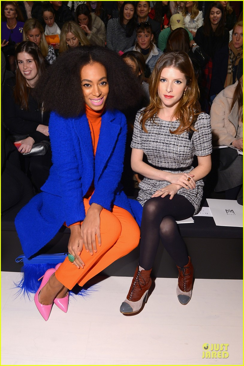 anna kendrick solange knowles milly by michelle smith fashion show 023050973