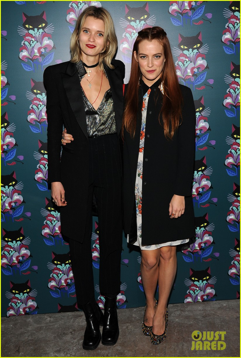 riley keough nicola peltz celebrate miu mius spark light starring riley herself 023051925
